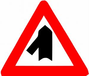 ورود به راه اصلی از چپ