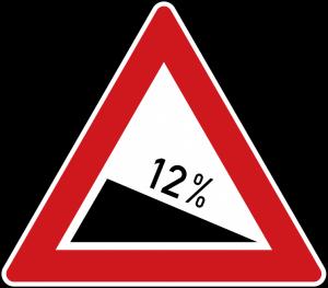 شیب سرازیری ۱۲٪