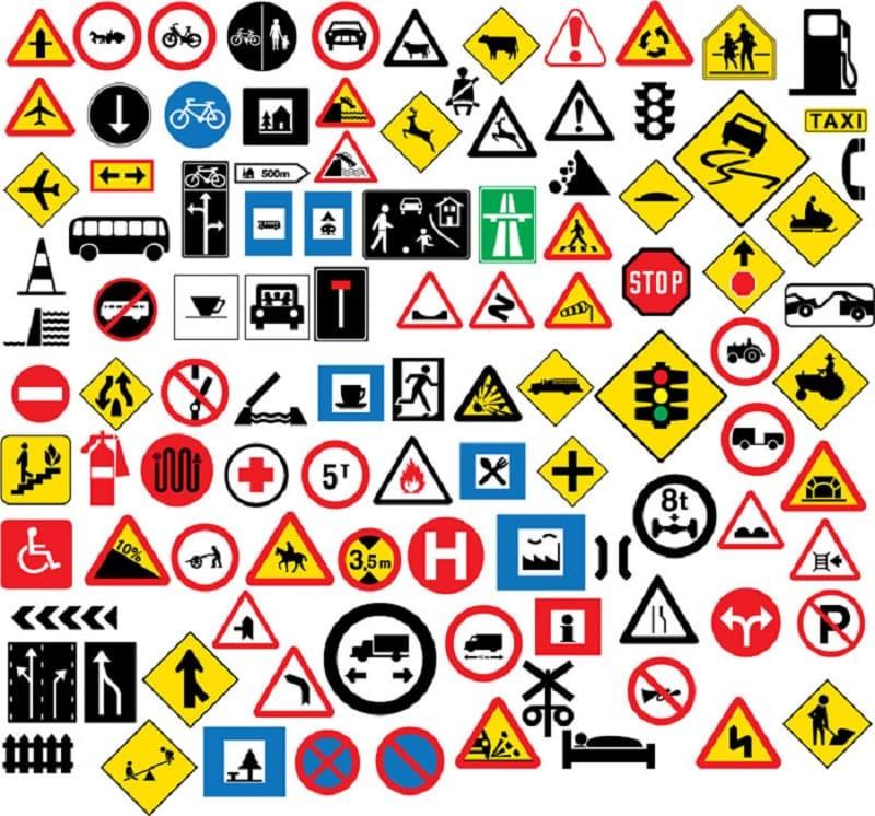 تابلوهای راهنمایی و رانندگی براساس اشکال هندسی