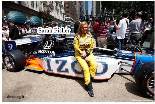 سارا فیشر بهترین راننده زن جهان