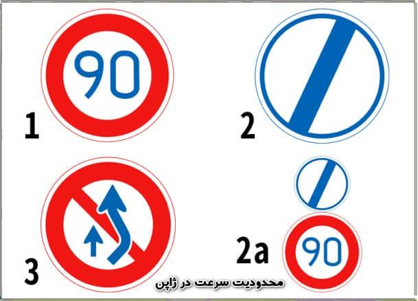 محدودیت سرعت در ژاپن