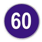 حداقل سرعت 60 کیلومتر