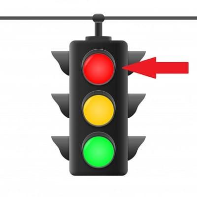مفهوم چراغ راهنمایی قرمز