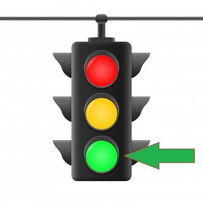 مفهوم چراغ راهنمایی سبز