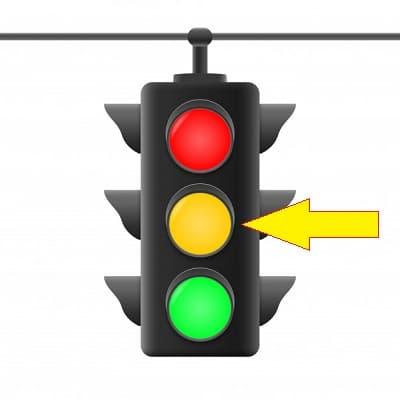 مفهوم چراغ راهنمایی زرد