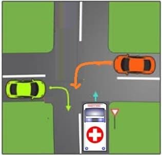 حق تقدم در چهار راه با 3 ماشین
