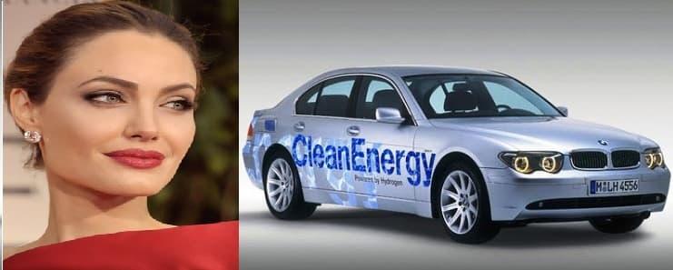 آنجلینا جولی ماشین BMW Hydrogen 7