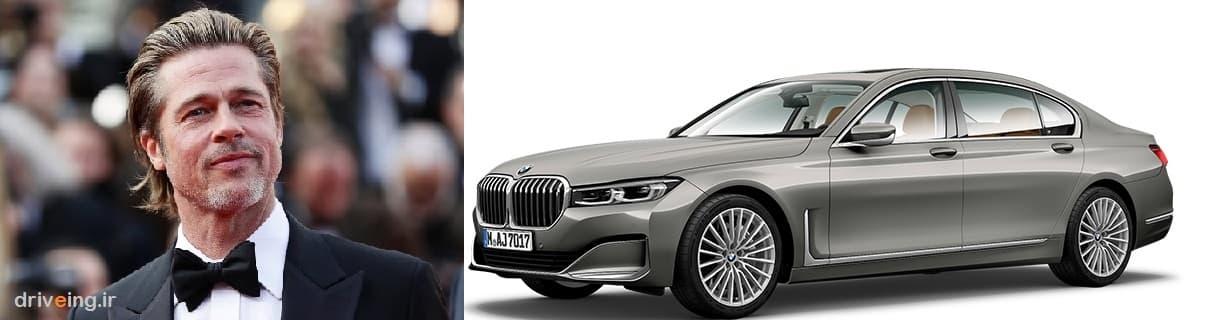 براد پیت خودروی BMW سری 7