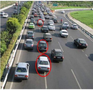 خودروهایی که دورشان خط کشیده شده